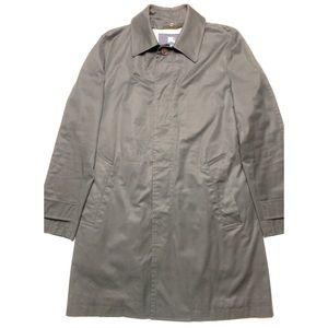 Burberry Cotton Raincoat in Black Sateen w/ Warmer